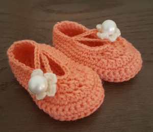 hæklet baby sko